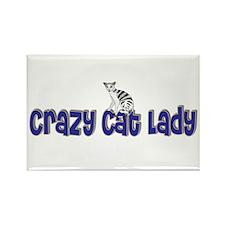 Crazy Cat Lady Rectangle Magnet