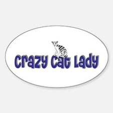 Crazy Cat Lady Oval Decal