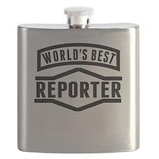 Worlds Best Reporter Flask