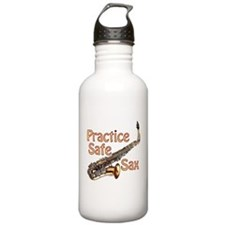 Practice Safe Sax Water Bottle
