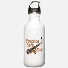 Practice Safe Sax Water Bottle