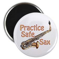 """Practice Safe Sax 2.25"""" Magnet (100 Pack) Mag"""
