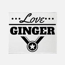 Love Ginger Throw Blanket