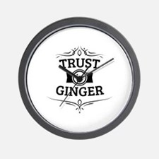 Trust in Ginger Wall Clock