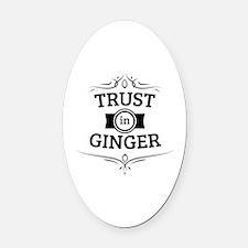 Trust in Ginger Oval Car Magnet