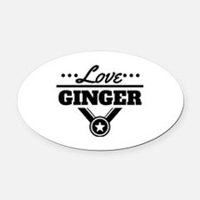 Love Ginger Oval Car Magnet