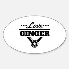 Love Ginger Sticker (Oval)