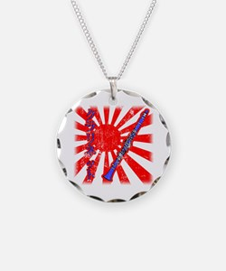 Japanese Grunge Clarinet Necklace Circle Charm