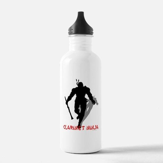 Clarinet Ninja Water Bottle