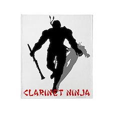 Clarinet Ninja Throw Blanket