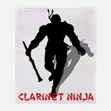 Clarinet Ninja Throw Blanket