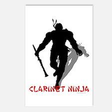 Clarinet Ninja Postcards (Package of 8)