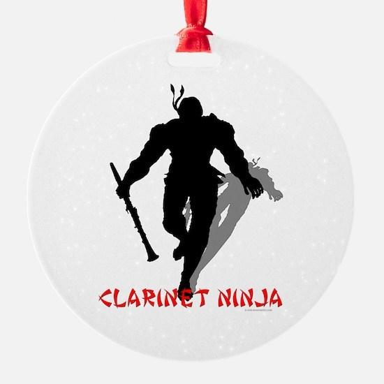 Clarinet Ninja Ornament