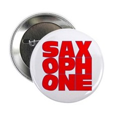 """SAXOPHONE 2.25"""" Button (100 pack)"""