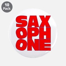"SAXOPHONE 3.5"" Button (10 pack)"