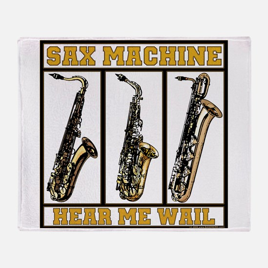 Sax Machine Throw Blanket