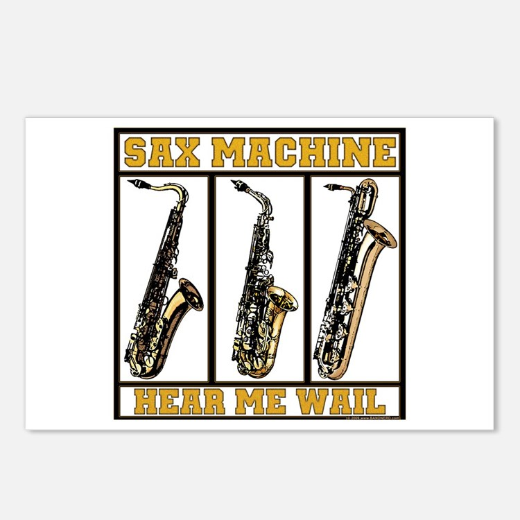 Sax Machine Postcards (Package of 8)