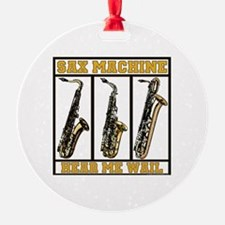 Sax Machine Round Ornament