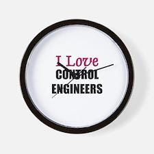I Love CONTROL ENGINEERS Wall Clock