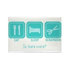 Eat, Sleep, Scrapbook Rectangle Magnet