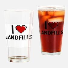 I Love Landfills Drinking Glass