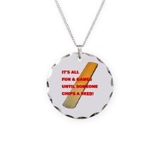 Chip a Reed Necklace Circle Charm