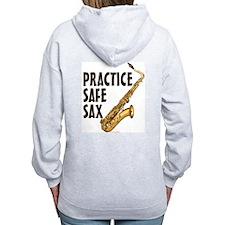 Practice Safe Sax (Tenor) Zip Hoodie