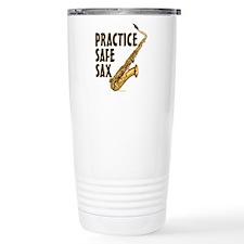Practice Safe Sax (Teno Travel Coffee Mug