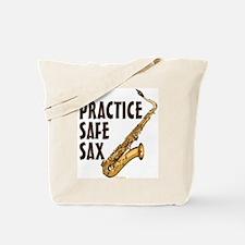 Practice Safe Sax (Tenor) Tote Bag