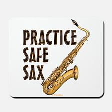 Practice Safe Sax (Tenor) Mousepad
