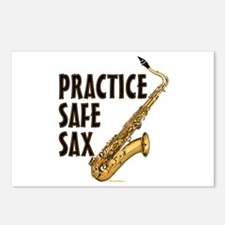 Practice Safe Sax (Tenor) Postcards (Package of 8)