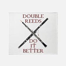 Double Reeds Do It Better Throw Blanket
