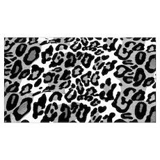 Gray Leopard Pattern Poster