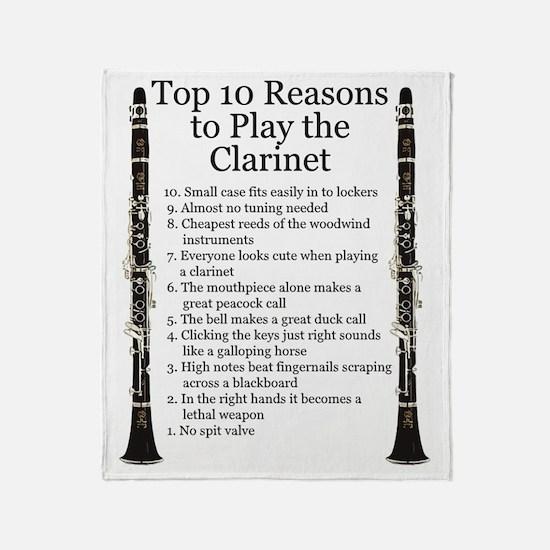 Clarinet Top 10 Throw Blanket