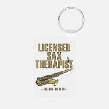 Licensed Sax Therapist Keychains