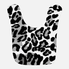 Gray Leopard Pattern Bib