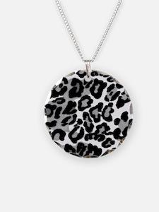 Gray Leopard Pattern Necklace