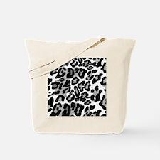 Gray Leopard Pattern Tote Bag
