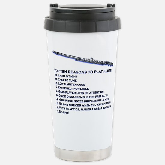 Flute Top 10 Stainless Steel Travel Mug