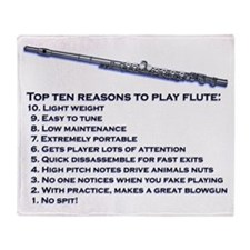 Flute Top 10 Throw Blanket