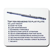 Flute Top 10 Mousepad