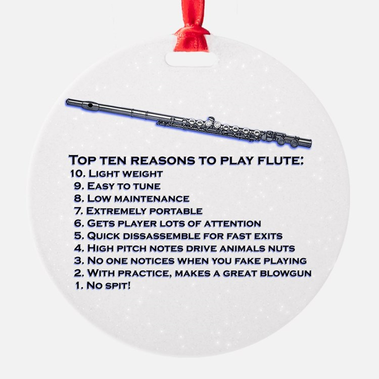 Flute Top 10 Ornament