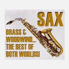 Sax: Best of Both Worlds Throw Blanket