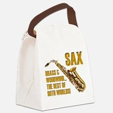 Sax: Best of Both Worlds Canvas Lunch Bag