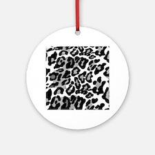 Gray Leopard Pattern Ornament (Round)