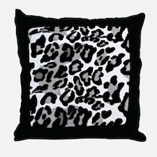 Gray Leopard Pattern Throw Pillow