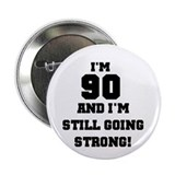 90 years old button Single