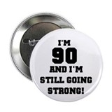 90th birthday button Single