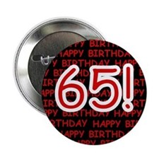 Happy 65th Birthday Button