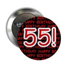 Happy 55th Birthday Button